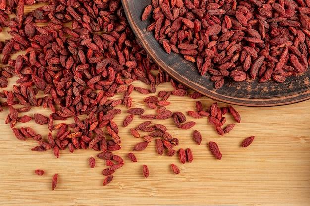 Плоский ассортимент сушеных ягод годжи Бесплатные Фотографии