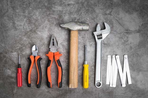 Вид сверху набор инструментов Бесплатные Фотографии