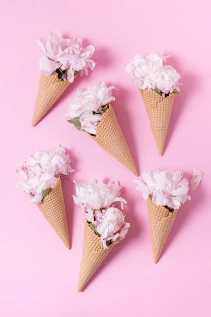 Абстрактный букет цветов как вид сверху мороженого Бесплатные Фотографии