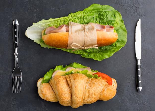 平干しの新鮮なサンドイッチ 無料写真