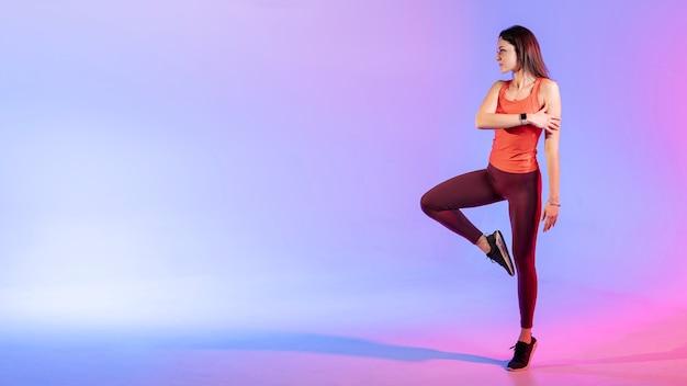 コピースペース女性トレーニング 無料写真