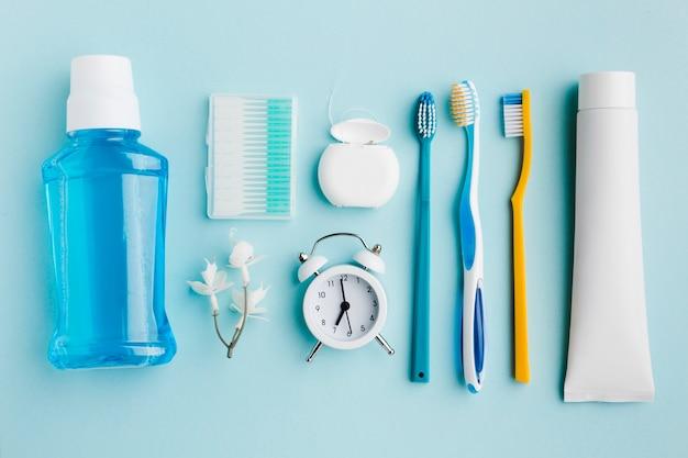 歯科衛生製品の平面図 無料写真