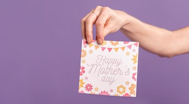 幸せな母の日カード 無料写真