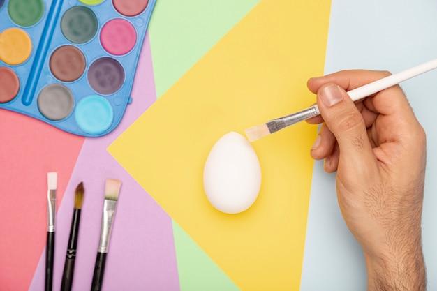 イースターの手塗り卵 無料写真