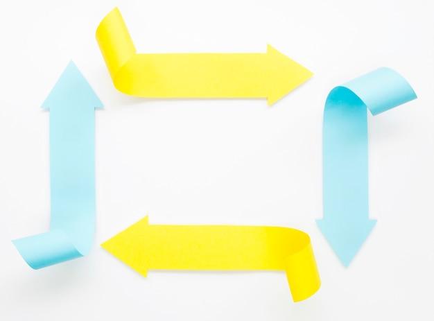 Четыре стрелки, делающие прямоугольник Бесплатные Фотографии