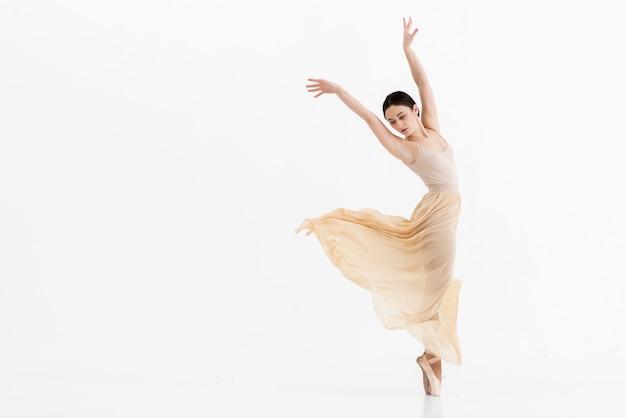 若いバレリーナのダンスの肖像画 無料写真