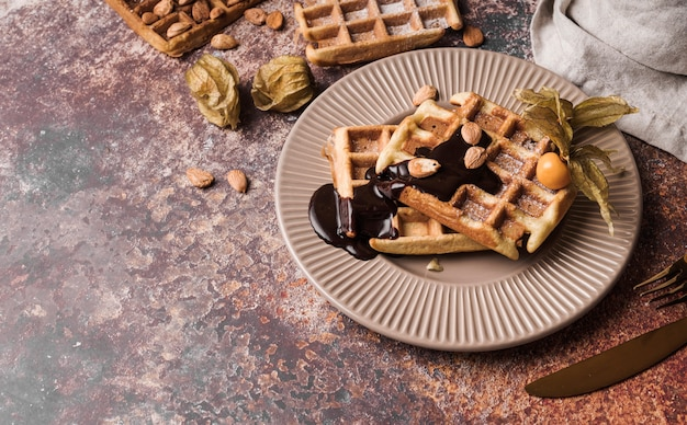 Бельгийская вафля с начинкой Бесплатные Фотографии