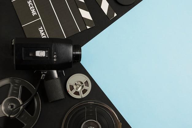 Вид сверху кинооборудования Бесплатные Фотографии