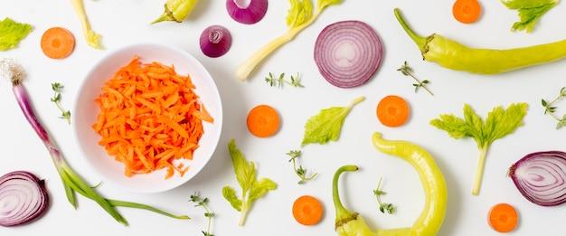 有機野菜のトップビューの品揃え 無料写真