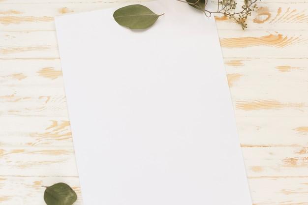トップビューの空白の紙 無料写真