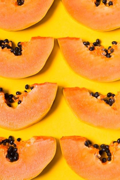 Вид сверху выбор вкусных папайи Бесплатные Фотографии
