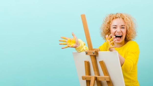 Вид спереди блондинка картина Бесплатные Фотографии