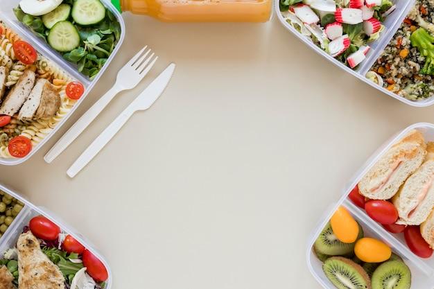 Вид сверху рамки питательной пищи Бесплатные Фотографии
