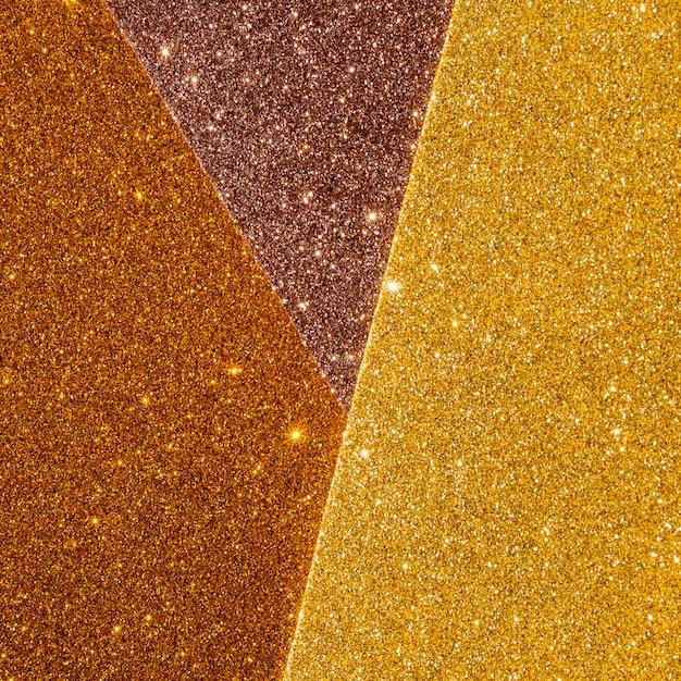 光沢のあるグラデーションゴールドテクスチャのレイヤー 無料写真
