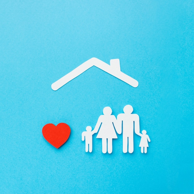 心を持つ平面図家族図 無料写真