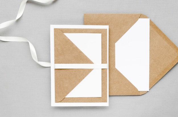 創造的な結婚式の招待状の封筒 無料写真