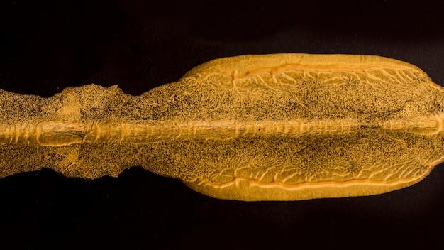 クローズアップのエレガントなゴールデンペイント 無料写真