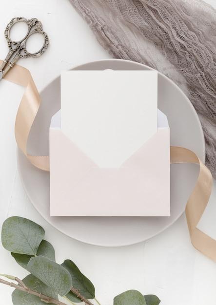 コピースペースを持つ美しい結婚式のコンセプトのトップビュー 無料写真