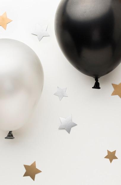 Вид сверху шары для вечеринки Бесплатные Фотографии