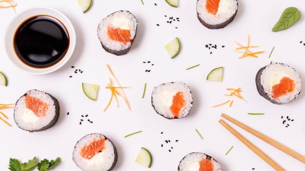 新鮮な寿司のフレーム 無料写真
