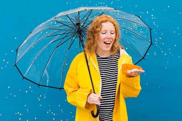 Девушка с прозрачным зонтиком Бесплатные Фотографии