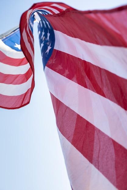 Флаг сша в небе Бесплатные Фотографии