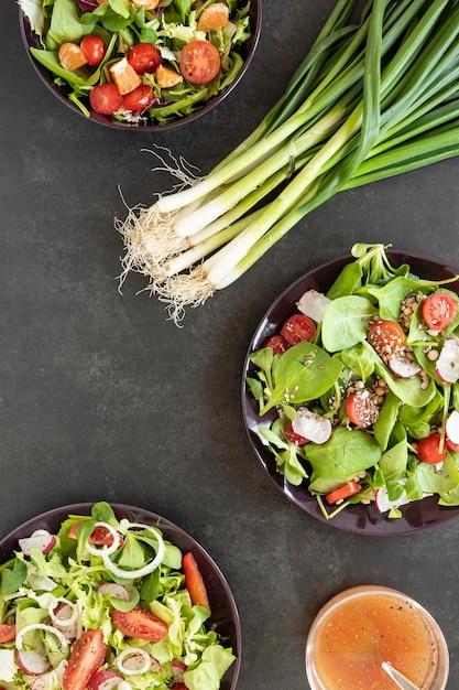 サラダ用ネギ 無料写真