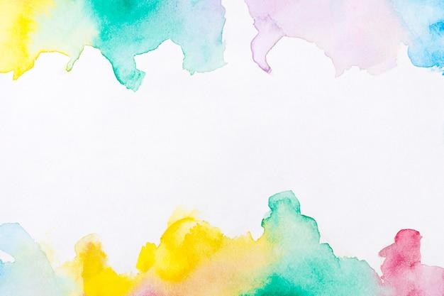 Фон рамки краски руки искусства акварели Бесплатные Фотографии
