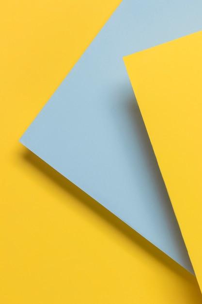 青と黄色の食器棚 無料写真
