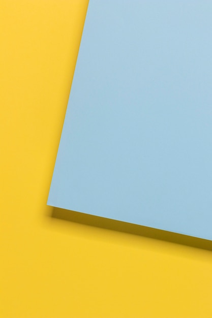 黄色と青の幾何学戸棚 無料写真