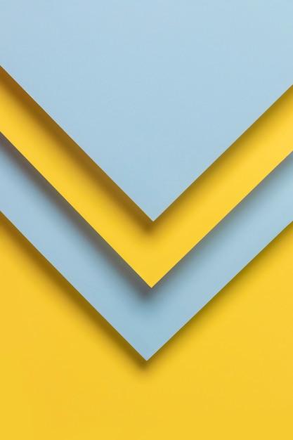 青と黄色の幾何学的な食器棚 無料写真