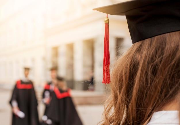 クローズアップの卒業生 無料写真
