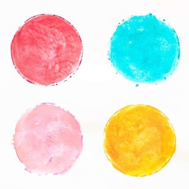 Разноцветные круги акварелью Бесплатные Фотографии