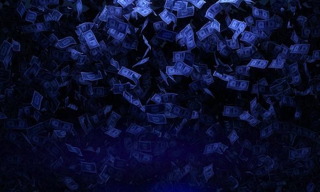 Концепция падающих банкнот Бесплатные Фотографии