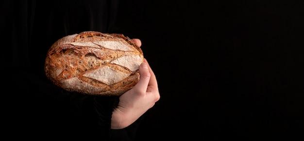 Макро хлеб с черным фоном Бесплатные Фотографии