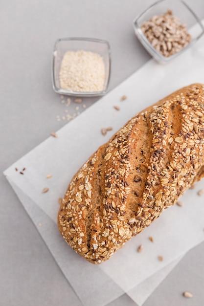 Вид сверху семена хлеба Бесплатные Фотографии