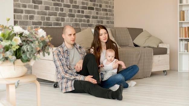 幸せな家族の概念の正面図 無料写真