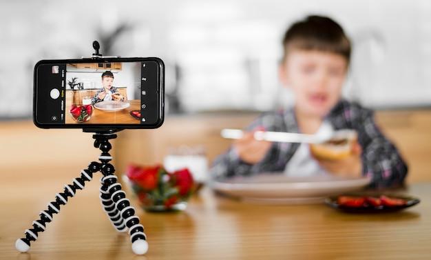 Размытый ребенок записывает себя Бесплатные Фотографии