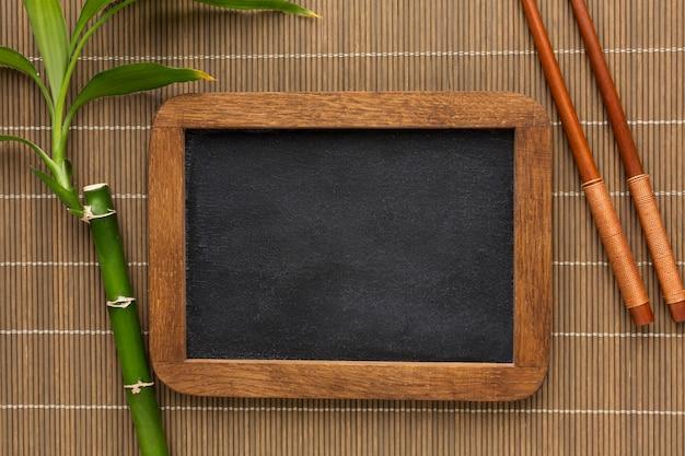 竹フレームコンセプトのトップビュー 無料写真