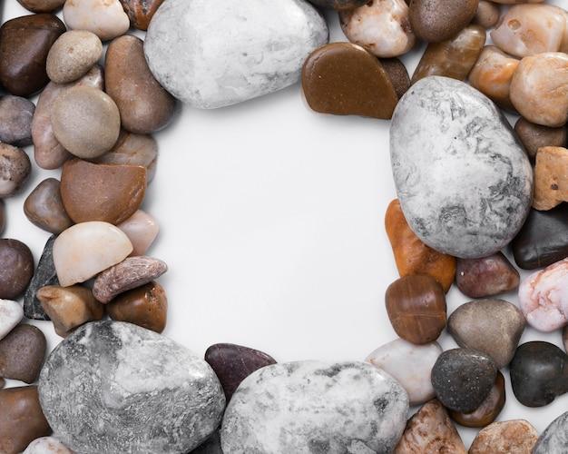 Вид сверху коллекция камней с копией пространства Бесплатные Фотографии