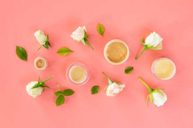 バラと化粧品 無料写真