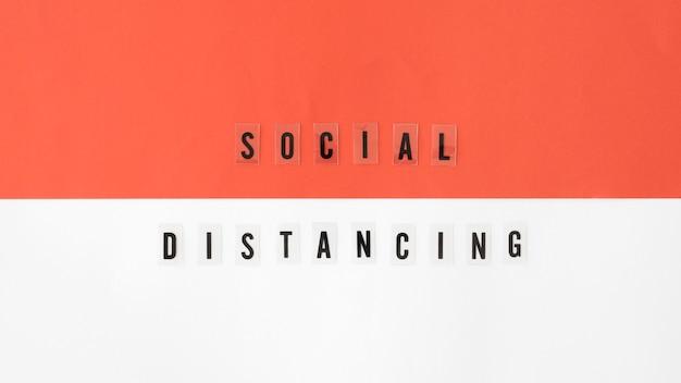 社会的距離概念の平面図 無料写真