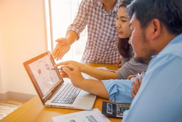 Концепция бизнес-процессов планирование, совместная работа для успеха Premium Фотографии