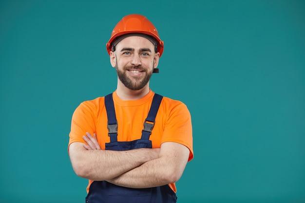 Ручной работник со скрещенными руками Premium Фотографии