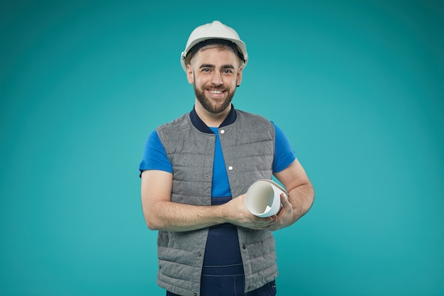Кавказский мужской портрет инженера Premium Фотографии