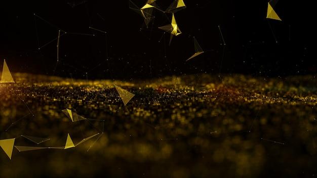 Волна и технология цифровых частиц Premium Фотографии