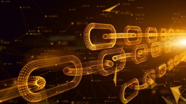 ネットワークチェーンリンク接続 Premium写真