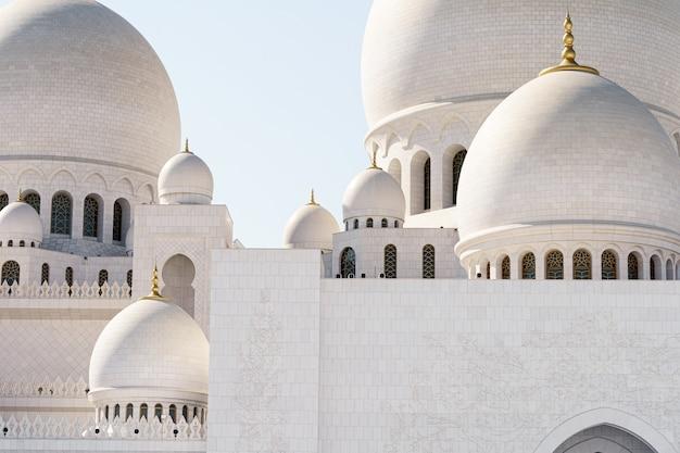 アブダビモスクのドームのクローズアップビュー Premium写真