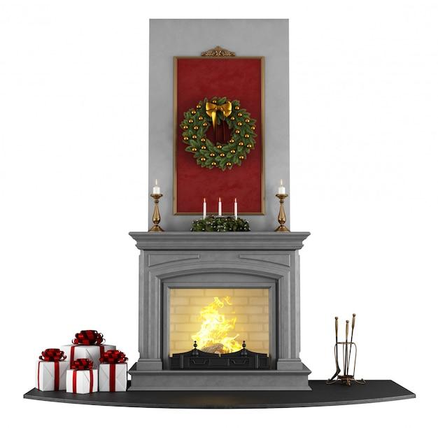 クリスマス暖炉 Premium写真