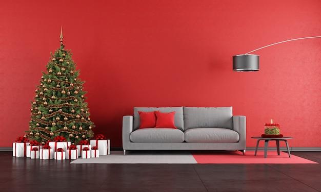 モダンなクリスマスリビングルーム Premium写真